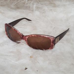 Bebe purple sunglasses w/case